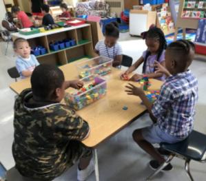 Kindergarten building activity