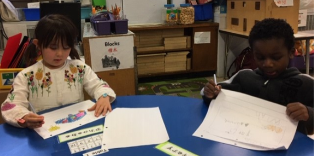 Kindergarten drawing activity