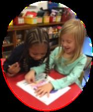 Kindergarten students drawing